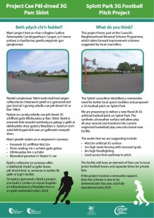 Splott Park 3G Football Pitch Consultation Boards