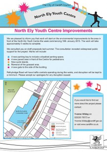 North Ely Youth and Community Centre Start Date leaflet